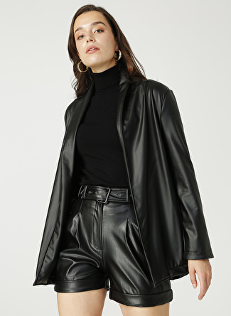 Fabrika Comfort Şal Yaka Düz Siyah Ceket