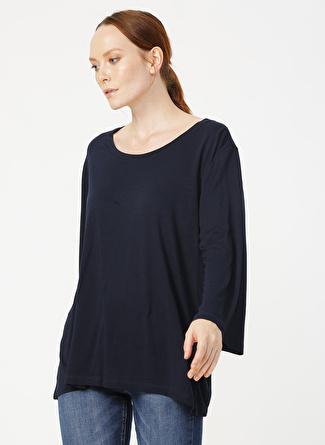 Fabrika Comfort O Yaka Düz Lacivert T-Shirt