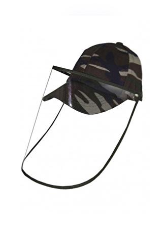 Bay Şapkaci Koruyucu Yüz Siperli Haki Şapka