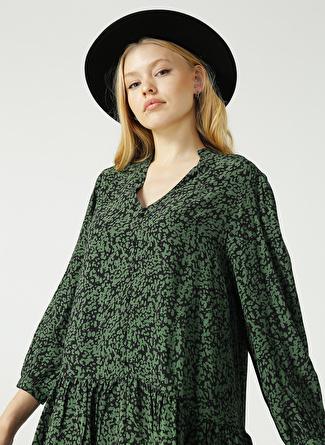 Limon Company Desenli Haki Kadın Elbise