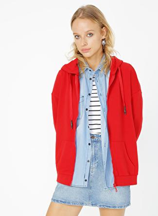 Limon Company Kapüşon Yaka Kırmızı Kadın Sweatshirt