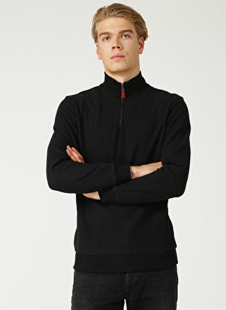 Limon Company Bato Yaka Düz Siyah Sweatshirt