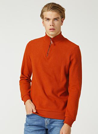 Limon Company Bato Yaka Düz Kiremit Sweatshirt