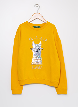 Limon Company Nakışlı Safran Kız Çocuk Sweatshirt
