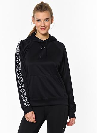 Nike Pullover Logo Siyah Kadın Sweatshirt