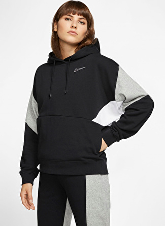 Vero Moda Nike French Terry Pullover Siyah Kadın Sweatshirt