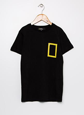 National Geographic Baskılı Siyah Erkek Çocuk T-Shirt