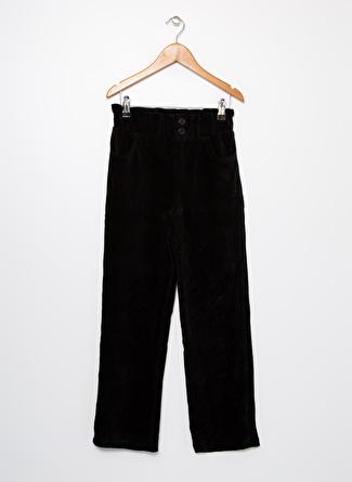 Limon Company Fitilli Desen Siyah Kız Çocuk Pantolon