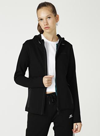 Skechers Siyah Kapüşonlu Sweatshirt