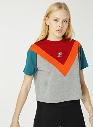 YAS Skechers Gri T-Shirt