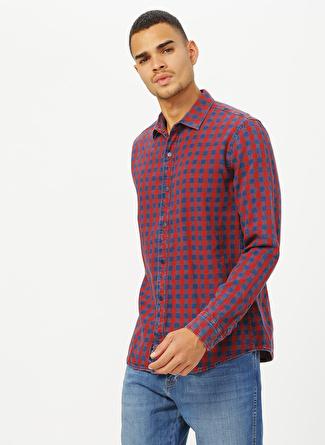 Mavi Kırmızı Lacivert Kareli Gömlek