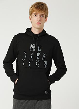 Lumberjack Siyah Kapüşonlu Sweatshirt