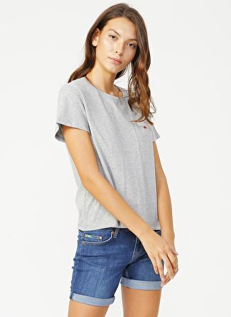 Lee Cooper 202 LCF 242029 Repreve 04 Kadın O Yaka T-Shirt