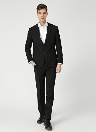Kip Fitted Düz Siyah Takım Elbise