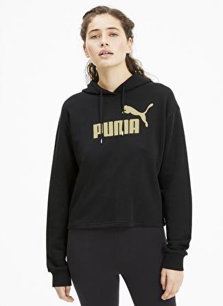 Puma 58241156 ESS+ Metallic Cropped Hoody TR Kadın Sweatshırt