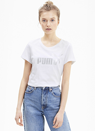 Puma 58240752 ESS+ Metallic Kadın T-Shirt