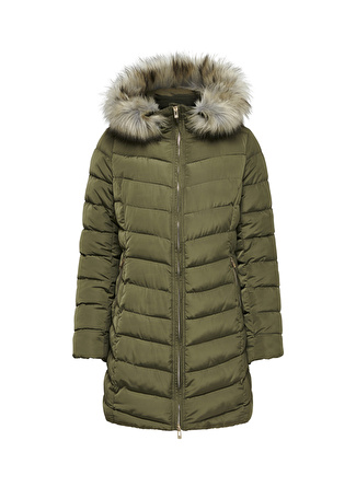 Only Ellan Quilted Hood Fur Kaban