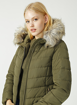 Only Newellan Quilted Fur Hood Mont