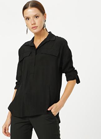 İpekyol Siyah Bluz