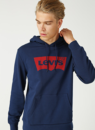 Levi's Lacivert Kapüşonlu Sweatshirt