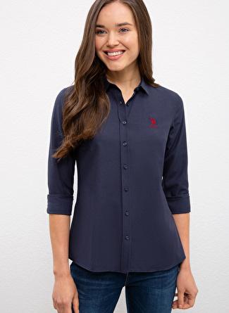 U.S Polo Assn. Slim Fit Lacivert Gömlek