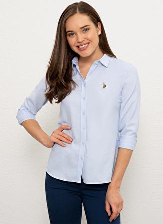 U.S Polo Assn. Slim Fit Açık Mavi Gömlek