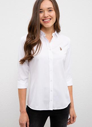 U.S Polo Assn. Slim Fit Beyaz Gömlek