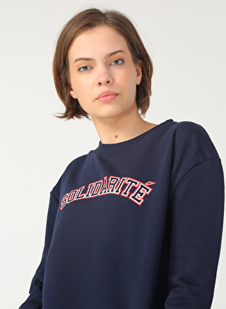 Fashion Friends Lacivert Baskılı Sweatshirt