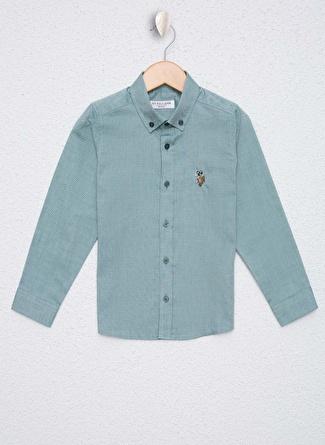 U.S Polo Assn. Koyu Yeşil Erkek Çocuk Gömlek