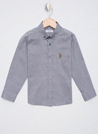 U.S Polo Assn. Koyu Gri Erkek Çocuk Gömlek