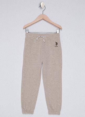 U.S Polo Assn. Bej Melanj Kız Çocuk Pantolon