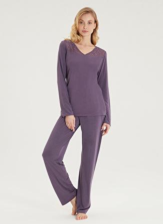 Blackspade Menekşe Pijama Takımı