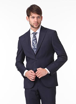 Kip Regular Fit Desenli Lacivert Takım Elbise