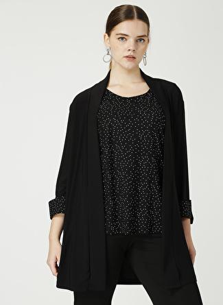 Selen Siyah Puantiyeli Ceket