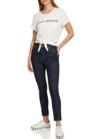 DKNY Yüksek Bel Denim Pantolon