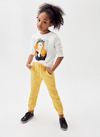 Tyess Ekru Kız Çocuk T-Shirt