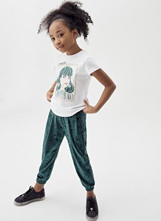 Tyess Yeşil Kız Çocuk Eşofman Altı