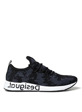 Desigual Runner Knit Sock Low Negro Siyah Kadın Sneaker