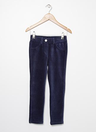 Benetton Lacivert Kadife Kız Çocuk Pantolon