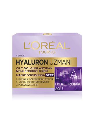 L'oreal Paris L'Oréal Paris Hyaluron Uzmanı Cilt Dolgunlaştıran Nemlendirici Gece Kremi