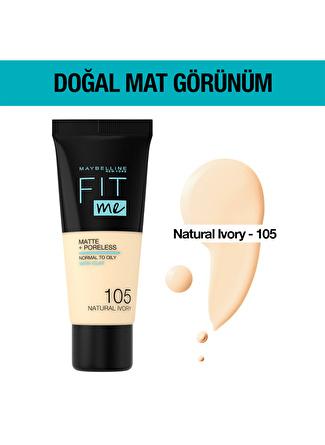 Maybelline Fit Me Matte + Poreless - 105 Natural Ivory Fondöten