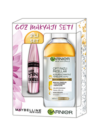 Maybelline Lash Sensational 03 + 400 ml Çift Fazlı Micellar Makyaj Set