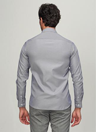 People By Fabrika İtalyan Yaka Gri Erkek Gömlek