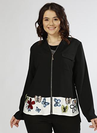 Ekol Pul Boncuk İşlemeli Ceket