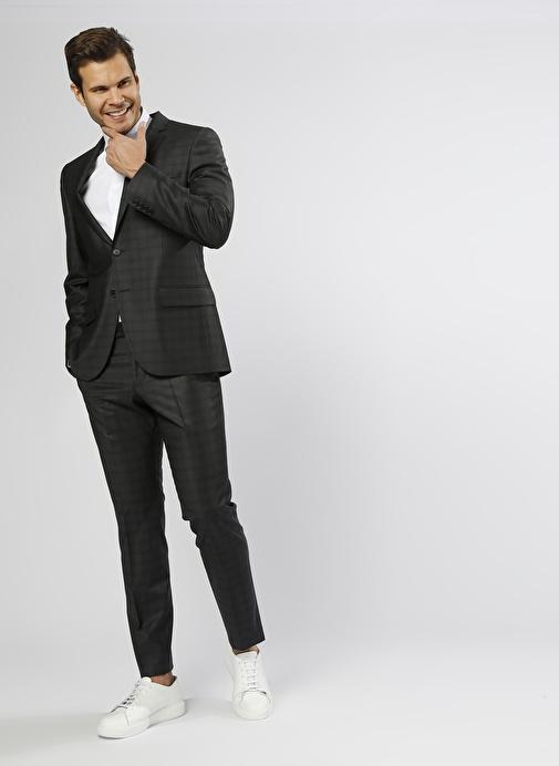 feb96dfc22260 Beymen Business Desenli Yün Siyah Takım Elbise