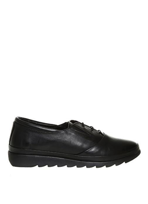 Greyder Kadın Deri Siyah Düz Ayakkabı 229.9 Tl