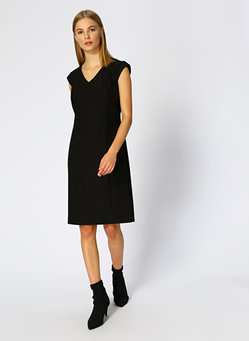 Naramaxx V Yaka Siyah Elbise 260.1 Tl