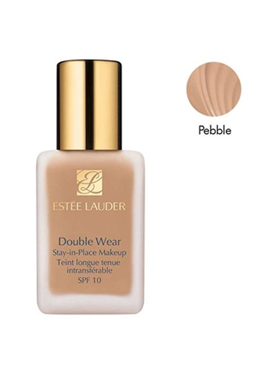 Standart Kadın Renksiz Estee Lauder Double Wear Stay-in-Place Spf10 3C2 Pebble 30 ml Fondöten Kozmetik Makyaj Yüz Makyajı