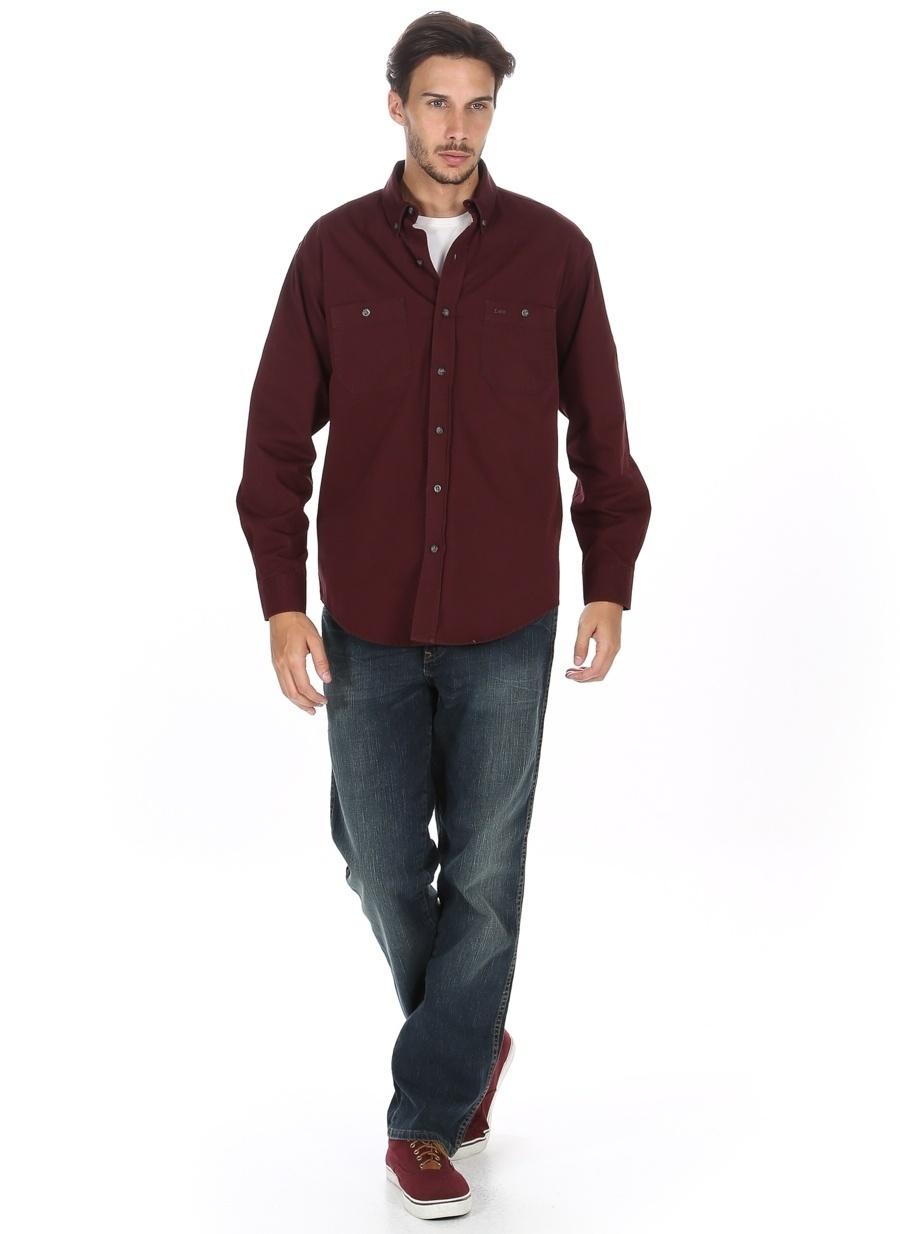 36-32 Renksiz Lee amp; Wrangler & W12183947 Texas Stretch Klasik Pantolon Erkek Giyim