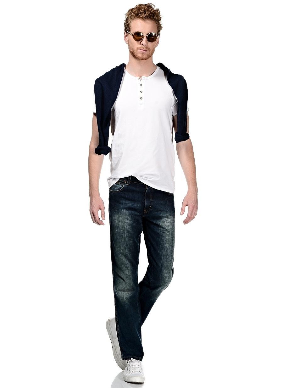 Renksiz Lee amp; Wrangler & W12183947 Texas Stretch Klasik Pantolon Erkek Giyim